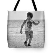 A Boy And His Beach Tote Bag