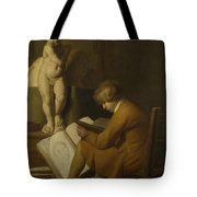 A Boy Seated Drawing Tote Bag