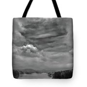 A Break In The Storm Bw Tote Bag