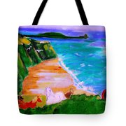 A Breezy Day At Rhosilli Bay Tote Bag