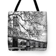 A Bridge In Winter Tote Bag