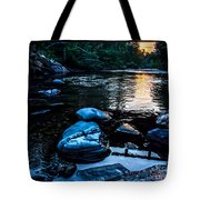 A Browns River Sunset Tote Bag