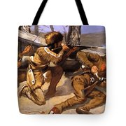 A Brush With The Redskins 1891 Tote Bag