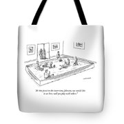 A Bunch Of Adults In Business Clothes Play Tote Bag