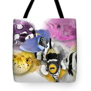 A Bunch Of Colorful Fish No 01 Tote Bag