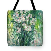 A Bunch Of Orchid Paintings Tote Bag