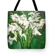 A Bunch Of White Gladioli Tote Bag