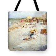A Busy Beach In Summer Tote Bag