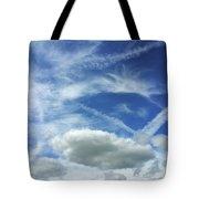 A Busy Sky Tote Bag