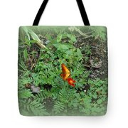 A Butterfly In The Garden Tote Bag