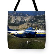 A C-130 Hercules Fat Albert Plane Flies Tote Bag