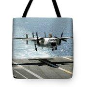 A C-2a Greyhound Prepares To Land Tote Bag
