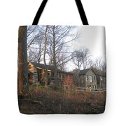 A Cabin On The Hill Tote Bag