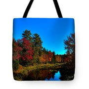 A Calm Fall Day On The Upper Moose Tote Bag