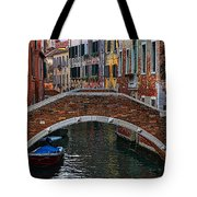 A Canal In Venice Tote Bag