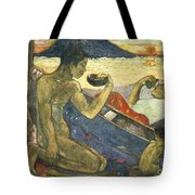 A Canoe Tote Bag by Paul Gauguin
