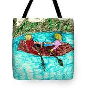 A Canoe Ride Tote Bag by Elinor Rakowski