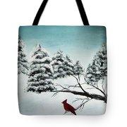 A Cardinals Perch Tote Bag