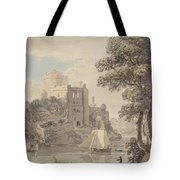 A Castle On A River Tote Bag