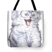 A Cat With Glasses Tote Bag