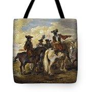 A Cavalry Skirmish Tote Bag
