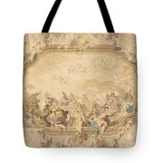 A Ceiling With Apollo Presiding Over Military And Historical Learning Tote Bag