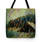 A Chance In The World Movie Dark Barn Crowded Into A Gully Between A Large Rocky Hill And A Grove Of Tote Bag