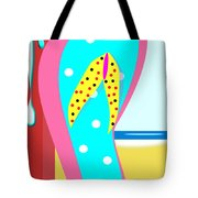 A Chancla On The Beach Tote Bag