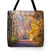 A Change Of Seasons On Forbidden Drive Tote Bag