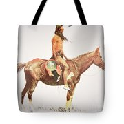 A Cheyenne Brave Tote Bag by Frederic Remington
