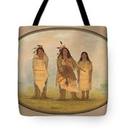 A Cheyenne Chief His Wife And A Medicine Man Tote Bag