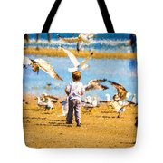 A Child At The Beach Isle Of Palms Sc Tote Bag