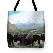 A Child Leads The Herd Tote Bag