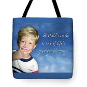 A Child's Smile Tote Bag