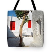 A Church And A Tree Tote Bag