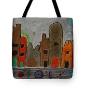 A Child's View Of Downtown Tote Bag