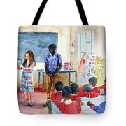 A Classroom In Africa Tote Bag