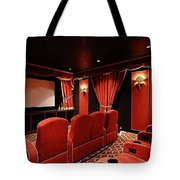A Classy Home Theater Set Up Tote Bag