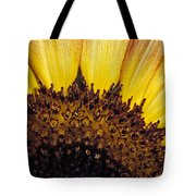 A Close-up Detail Of A Sunflower Head Tote Bag