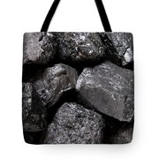 A Close View Of Coal Ready For Burning Tote Bag