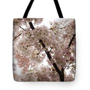 A Cloud Of Pastel Pink Cherry Blossoms Celebrating The Arrival Of Spring  Tote Bag