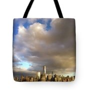A Cloudscape And Its Cityscape Tote Bag