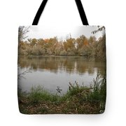 A Cloudy Day On The Pond Tote Bag