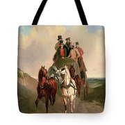 A Coach And Four On An Open Road  Tote Bag
