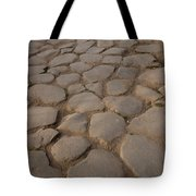 A Cobblestone Road In Rome Tote Bag