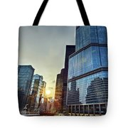 A Cold Chicago Day Tote Bag