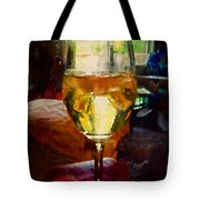 A Cold Glass Of Wine Tote Bag