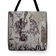 A Collage Of Sketches Tote Bag