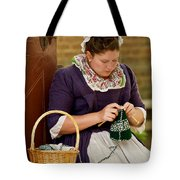 A Colonial Lady Knits Tote Bag