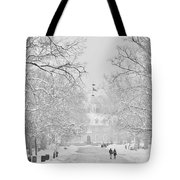 A Colonial White Winter Tote Bag